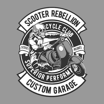 Scooter rebellion badge