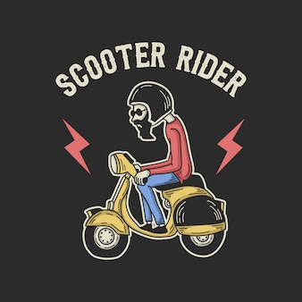Scooter rider illustration