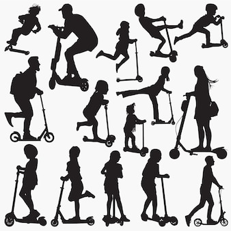 Scooter silhouettes