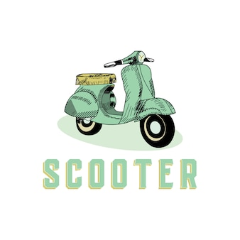 Scooter vintage style design concept
