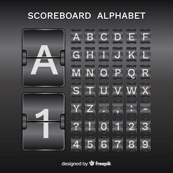 Scorebaord alphabet