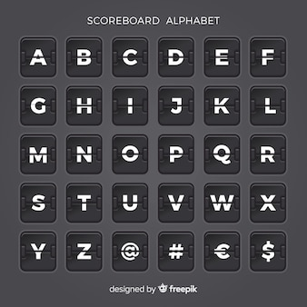 Scoreboard alphabet