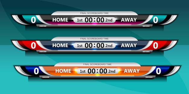Scoreboard broadcast graphic and lower thirds template