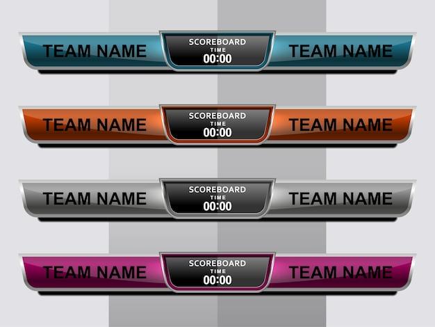 Scoreboard broadcast graphic