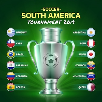 Scoreboard broadcast group soccer south america's tournament 2019
