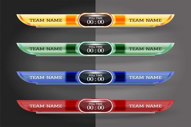 Графический шаблон для цифрового экрана scoreboard для трансляции
