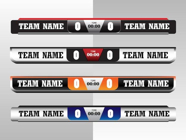 Scoreboard digital screen graphic template