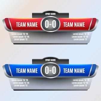 サッカーとサッカーのスコアボード要素の設計