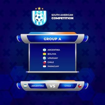 Modello del torneo di calcio del tabellone segnapunti 2021. gruppo di calcio a