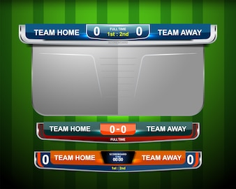 Scoreboard Graphic Template for sport soccer and football