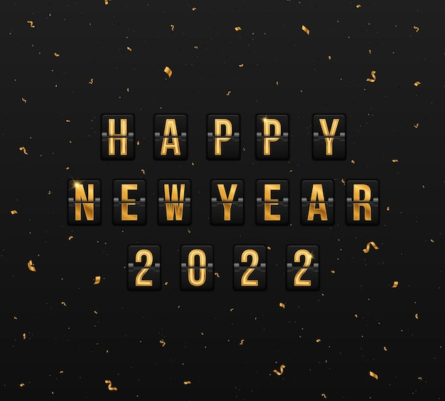 Scoreboard for happy new year 2022 framework for the new year festive postcard