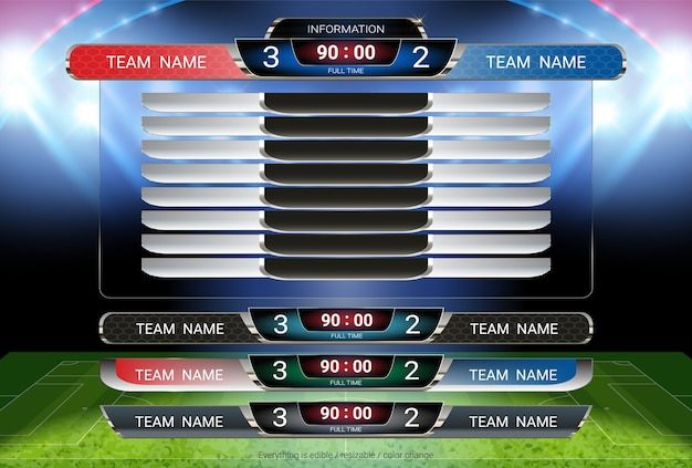 Scoreboard and lower thirds template.