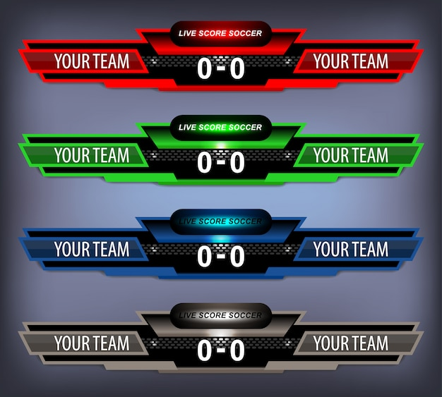Scoreboard sport template for football and soccer