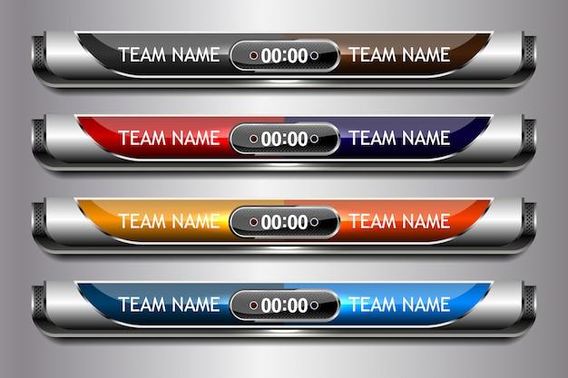Scoreboard sport template