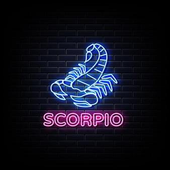 Гороскоп скорпион неоновая вывеска, неоновый стиль