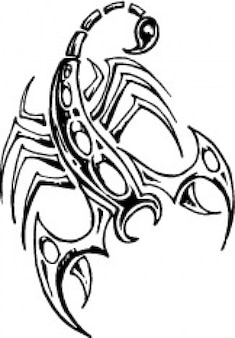 Scorpion design from top view