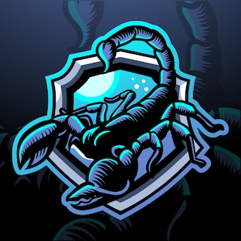 Скорпион-талисман. киберспорт логотип