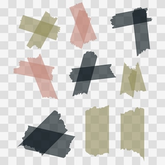 Scotch, adhesive tape pieces isolated