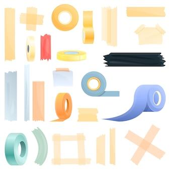 스카치 테이프 아이콘 세트, 만화 스타일
