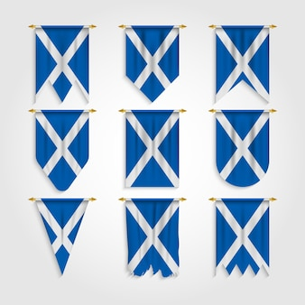 Scotland flag in different shapes flag of scotland in various shapes