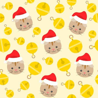 Scottish fold cat xmas pattern and background