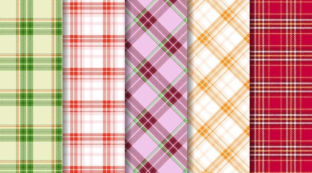 Scottish tartan check plaid seamless pattern