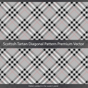 Scottish tartan pattern texture premium