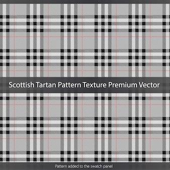 스코틀랜드 타탄 패턴 질감 프리미엄