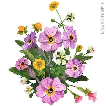 Scottish wild plants boutonniere