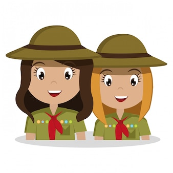 Scout character isolated icon design