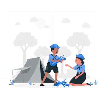 Scouts concept illustration