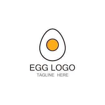 Шаблон дизайна логотипа яичница