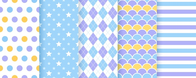 Scrapbook background. vector. seamless pattern. cute prints for scrap design. geometric illustration