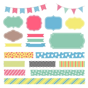 Scrapbook decoration elements.