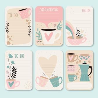 スクラップブックのメモとカード