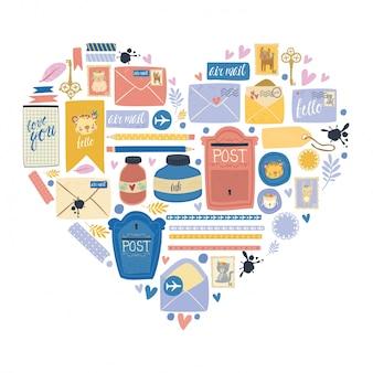 Scrapbook and postal items