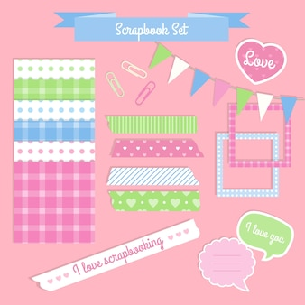 Scrapbook set in vintage style
