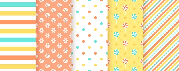 Scrapbooking background. seamless pattern. illustration. geometric prints.
