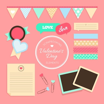 Scrapbooking valentine elements