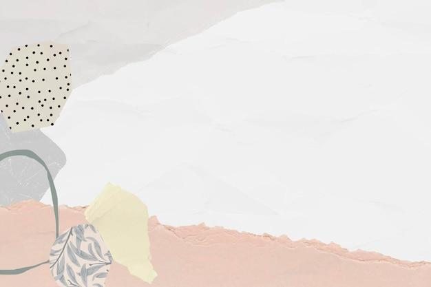 スクラップの型紙の背景