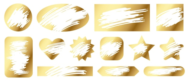 Scratch cards. lottery game gold texture for lucky winning and loser scratching tickets. gambling, fast win jackpot coupon vector set. getting award or prize winning, different shapes illustration