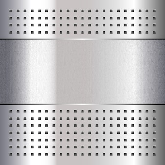 Scratched, on chrome metal background