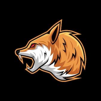 Scream roar wolf vector illustration mascot logo