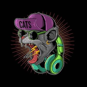 비명 고양이 hypebeast 십대 그림