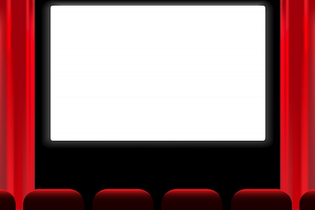 Screen cinema hall vector.