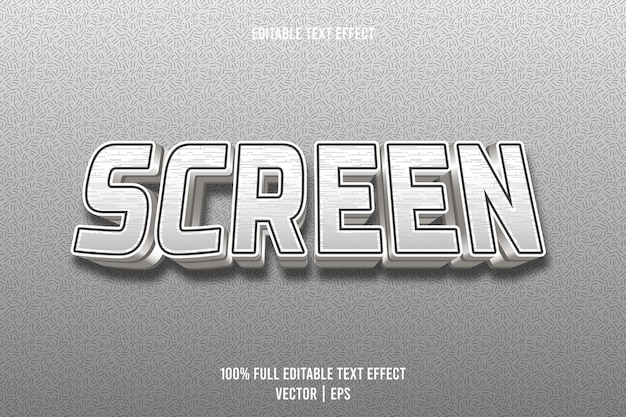 Screen editable text effect 3 dimension emboss luxury style