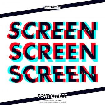 Screen fashion text effect