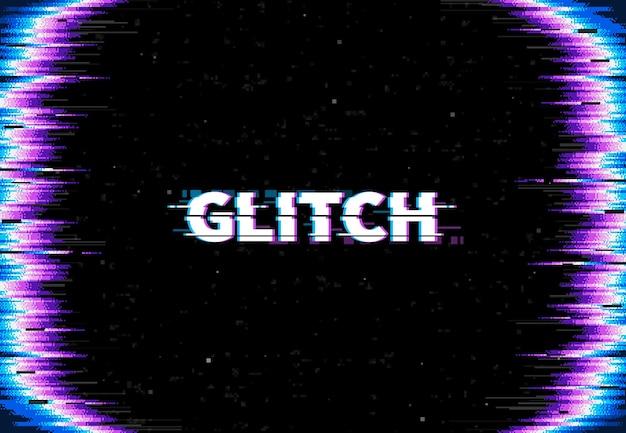 Screen glitch background, tv signal loss effect