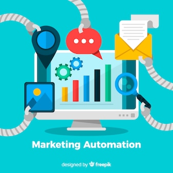 Screen marketing automation background