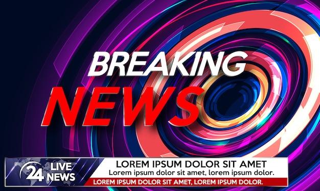 Screen saver on breaking news.
